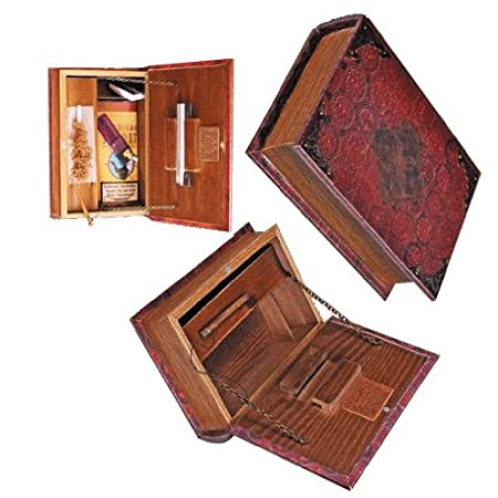 PI Unique Mini   Original Kavatza Mini Secret Rolling Stash Book Box    Wooden Stash Box