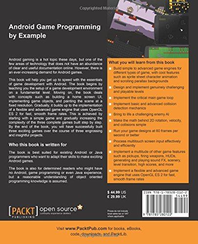 Android Game Programming by Example: John Horton: 9781785280122