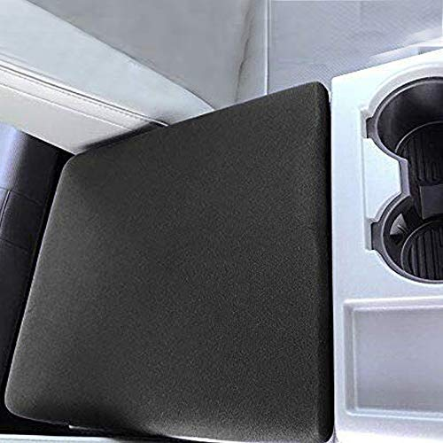 AVOMAR Black Center Console Armrest Cover Soft Pad Protector Cover Fits Ford F150 F250 Truck Series -