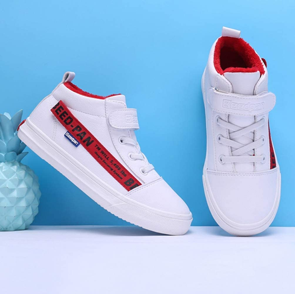 LGXH Kids Winter Warm Casual Skate Shoes Non-Slip Comfortable Outdoor Athletic Sneakers for Boys Girls