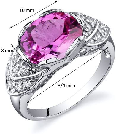 Handmade Engagement Ring 2.75 Ct Pink Lab Sapphire Marquise Cut Wedding Ring 925 Sterling Silver 14K White Gold Plated Promise Ring for Her