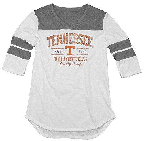 NCAA Tennessee Volunteers Women's Tri-Blend 3/4 Sleeve Tee, Heather, Medium