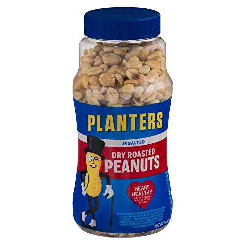 Dry Roasted Peanuts - Planters Unsalted Dry Roasted Peanuts, 16 Ounce (4 Pack)