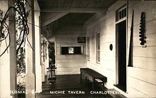 - Colonial Bar, Michie Tavern Charlottesville, Virginia Original Vintage Postcard