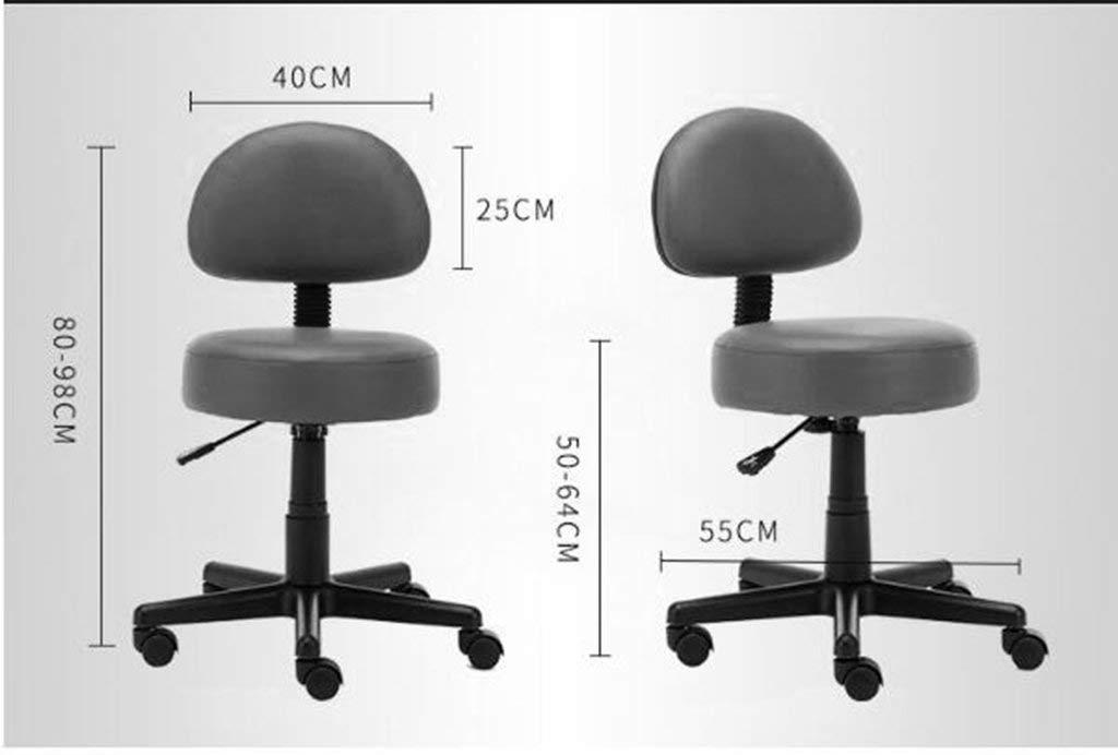 MU Moderner Einfachheits-Barhocker, pneumatischer Aufzug-Schemel der Rückenlehne, der den Haushalts-Barhocker langlebig dreht,# 6