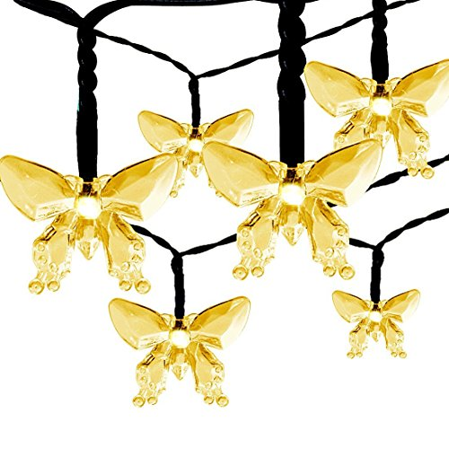 Outdoor Solar String Lights Satu Brown 21ft 30led Fairy