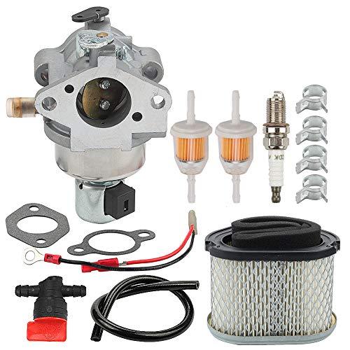 Mckin 12 853 117-S 12-853-117-S Carburetor 12 083 10-S Air Filter+12 083 12-S Pre-Cleaner Tune Up Kit fits Kohler Command Pro CV490 CV491 CV492 CV493 17HP 18HP Engines