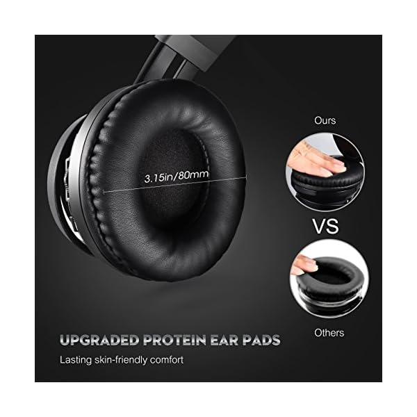 190a41e584f Mpow Thor Bluetooth Headphones On Ear, Hi-Fi Stereo Wireless Headset  Foldable with Mic ...