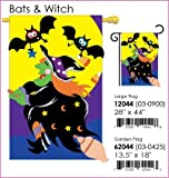 Bats & Witch Flag Indoor/outdoor 28″ X 44″