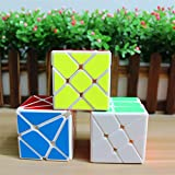 4x4 fisher - GoodPlay Yongjun YJ Specific Speed Cube Puzzle White Sets--Pack of 3 (Include 3X3 Fluctuation Angle Puzzle Cube, Windmill Cube White 2x3 Shape Mod, Fisher Cube 3x3x3 Shape Twisty Puzzle)
