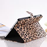 Moonmini Leopard Cheetah Luxury Leather Display Flip Case Stand Cover for Apple Ipad Mini Brown