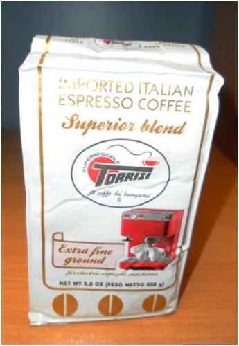 - Torrisi - Italian Superior Blend Roasted & Ground Coffee [Extra Fine Ground], (2)- 8.8 oz. Pkgs