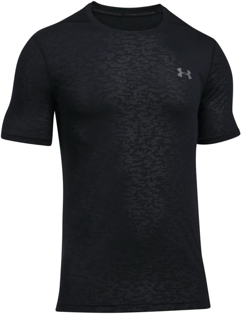 Under Armour Mens Threadborne Fitted Embossed T-Shirt