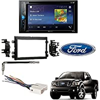 Pioneer AVH-200EX 2-Din 6.2 DVD/CD/iPhone/Android/Bluetooth Receiver Metra 95-5812 Double DIN Dash Kit for Select 2004-2011 Ford Installation Stereo