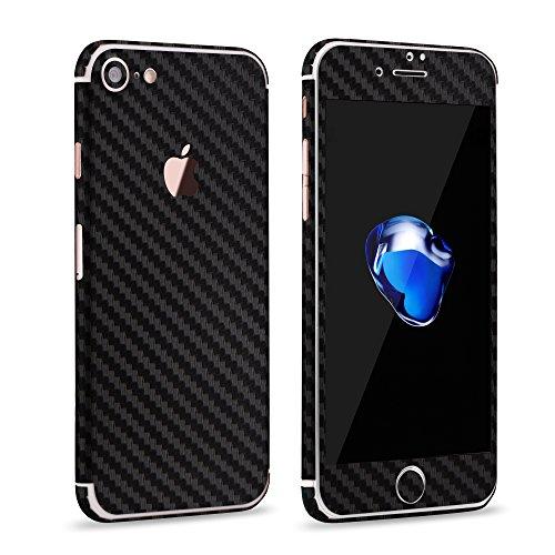 VAPIAO Carbon Skin Protector Schutzfolie für Apple iPhone 6, 6S in Schwarz