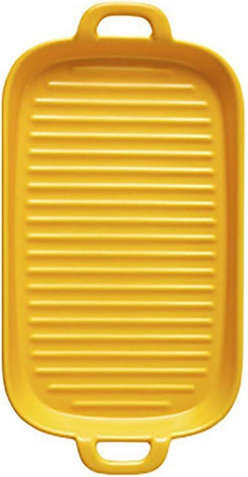 CUIZC Plato Rect/ángulo De 11,4 Pulgadas Disponible En Muchos Colores Horno Microondas Disponible