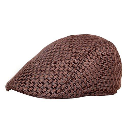 Casquette Couleurs Chapeau Acvip Forme Pour Unique Homme Plate 7 Hat Filet taille Femme Café Voyage Unisexe 15AAwxqn7