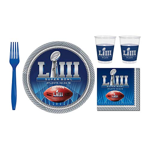 (Super Bowl 53 Super Value Tableware Party Pack for 24 Guests )