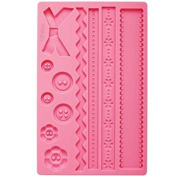 Decorations Cake - Molde de silicona para fondant y decoración de tartas, diseño de lazos y botones (aprox. 20 x 12 cm): Amazon.es: Hogar