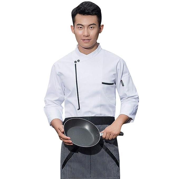 Dooxii Unisex Donna Uomo Autunno Manica Lunga Giacca da Chef Professionale  Ristorante Occidentale Torta di Cottura Uniformi Divise da Cuoco   Amazon.it  ... d1ef9f97cf77