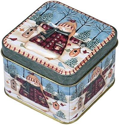 Fengh Adornos de Navidad de metal para galletas de caramelo de Navidad, decoración del hogar: Amazon.es: Hogar