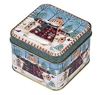 Fengh adornos Navidad Navidad Candy cajas de galletas de lata de metal tarro de Navidad decoración para el hogar: Amazon.es: Hogar