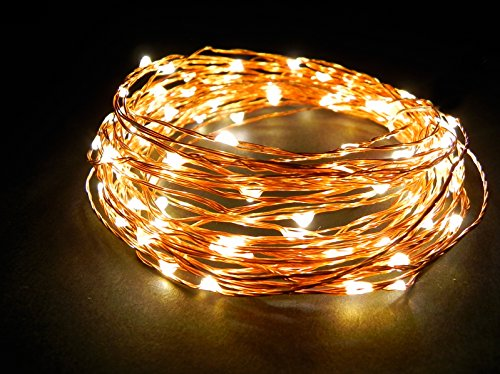 Outdoor String Lights Extra Long : Norsis Fairy Lights - Flexible Copper Wire Starry String Lights - 100 Miniature LED Lights ...