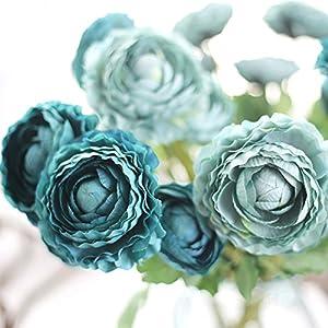 Yu2d  Artificial Silk Fake Flowers Small Daisy Wedding Bouquet Party Home Decor (a,b,c) 33