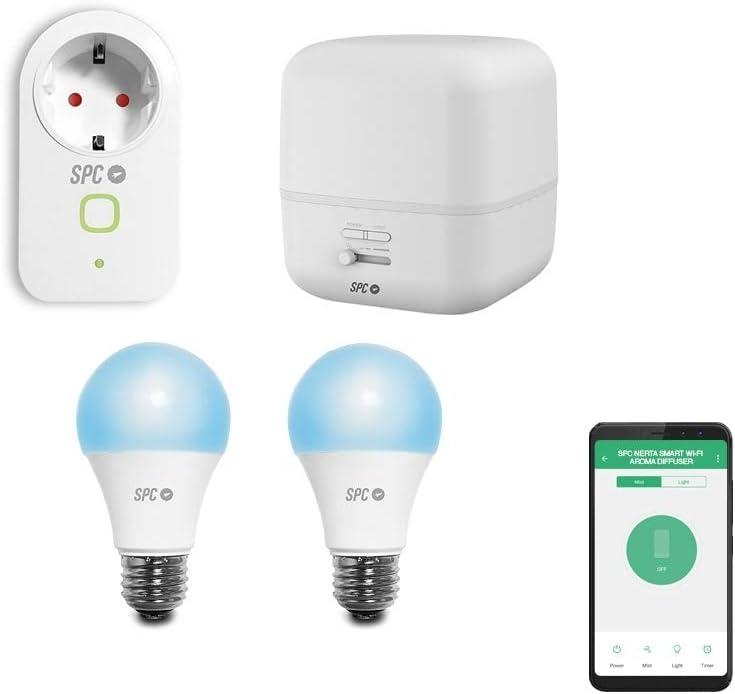 SPC Kit Iniciación Ambiente (enchufe, difusor de aromas inteligentes) Smart Home compatible con Amazon Alexa y Google Home + 2 bombillas inteligentes: Spc-Internet: Amazon.es: Electrónica