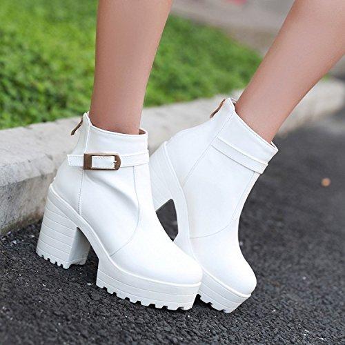AGECC  Damen Damen Winter Martin Stiefel Weibliche grobe grobe grobe Kurze Stiefel mit dem Fall Flut Kurze Stiefel Hochhackige Schuhe und Stiefel Dickbesohlte Stiefel Britischer Stiefel Viel Glück für Sie 6ea0c4