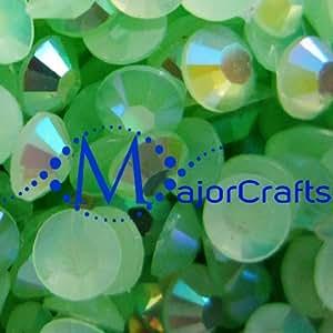 MajorCrafts 50000pcs Light Green AB 2mm ss6 Flat Back Round Resin Rhinestones #51