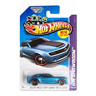Hot Wheels 2013 HW Showroom Chevrolet Chevy Camaro Special Edition Blue Teal