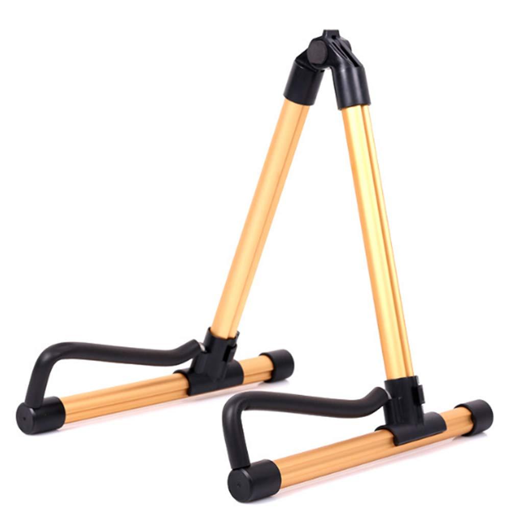 Soporte plegable para guitarra acústica eléctrica clásica bajo guitarra de viaje soporte (dorado): Amazon.es: Instrumentos musicales