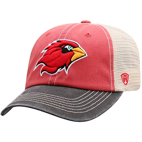 Top of the World Lamar Cardinals Men's Mesh-Back Hat Icon, Red, ()