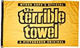 NFL Pittsburgh Steelers One-Sided Flag Terrible Towel, 3-Foot x 5-foot, Black and Gold