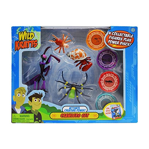 Wild Kratts Toys - 4 Pack Action Figure Set - Activate Creature Power - Crawlers (Wild Kratts Figures compare prices)