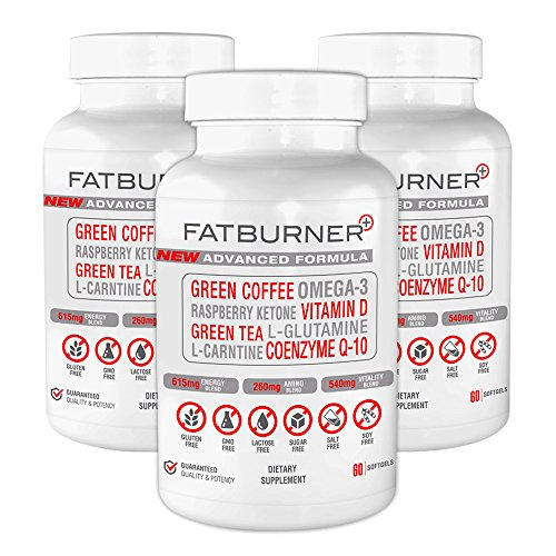 Fat Burner Plus - Advanced Weight-loss System | 3 Month Supply (180 Capsules) by Plus Brands