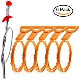 #3: Cooper GTV Drain Snake Clog Remover Drain Snake, 6 Pack Drain Snake Hair Drain Clog, Drain Snake Hair Tool, 20 Inch Drain Snake Drain Relief Cleaner Tool for Sink, Tube Drain Cleaning