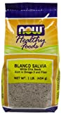 Now Foods Blanco Salvia White Chia Seeds - 1 lb. ( Multi-Pack)
