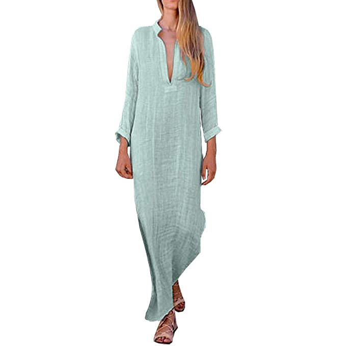 f7d46fec0c1 AMSKY Women Maxi Dress