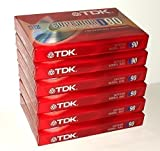 TDK Superior Normal Bias D90 blank cassette tapes (Pack of 6)