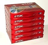 TDK Superior Normal Bias D90 blank cassette tapes (Pack of 6)
