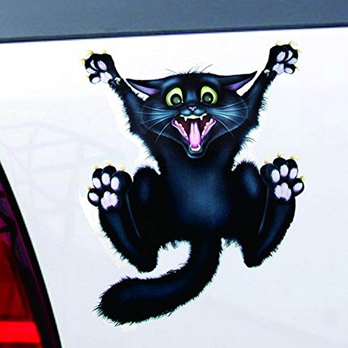 Car Stickers Decals, Halloween Car Wall Home Black Cat Sticker Mural Decor Decal Removable Terror New ()