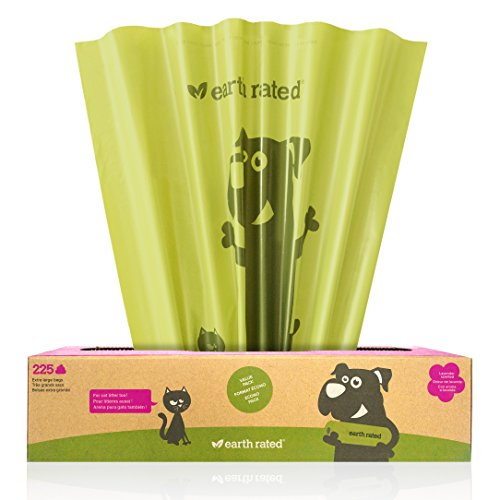 225-Count Earth Rated® Lavender-Scented X-Large Pet Waste Bags for Dog Waste, Cat Litter, and Pantries