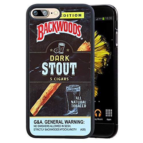 SSCase Dark Stout Backwoods Cigar Soft Plastic Protected Case for iPhone 7 plus - Black