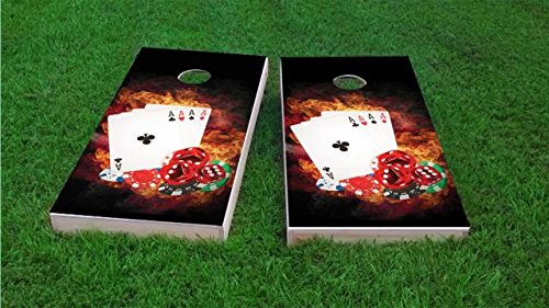 4 Card Stud Poker Cornhole Set, 2x4, ACA Regulation by Tailgate Pro's