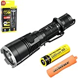 Bundle:Nitecore MH27 USB Rechargeable Flashlight CREE XP-L HI V3 1000 Lumens Tactical Flashlight With 2600mAh 18650 Battery+Skyben Battery Case