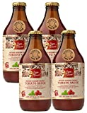 Papa Vince Pasta Tomato Sauce - no onion no garlic no sugar added   low acid for sensitive stomach   glass canned   no coloring no preservative no additive   fresh from Sicily Italy 11.6 oz (4-Pack)