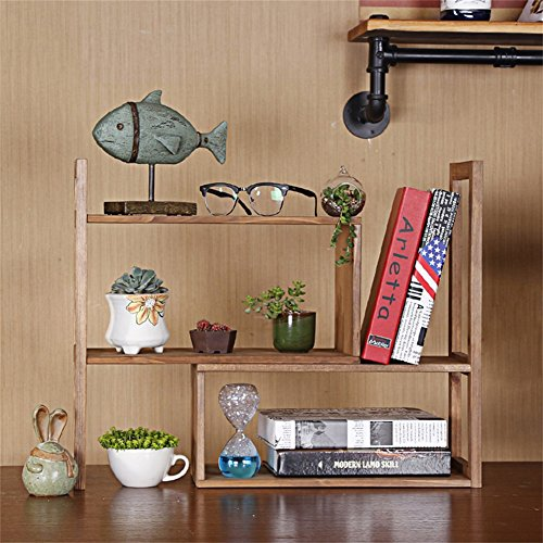 Plant Flower Stand Simple Rack Multilayer Window Bay Window Desktop Tabletop Mini Shelf Solid Wood Economy Small Bookcase Accessories (Color : B)