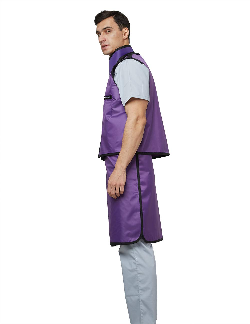 Upgrade 0.5mmpb Xray Lead Clothes with Thyroid Shield Collar, Dental Lab Apron, Radiation Protection - Lightweight: Industrial & Scientific
